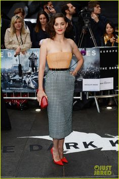 Marion Cotillard in hot-off-the-runway Dior Couture at the 'Dark Knight Rises' European Premiere!