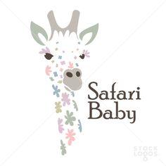 Baby Safari Flower Giraffe | StockLogos.com