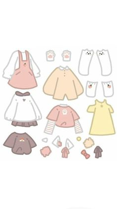 Manga Clothes, Drawing Anime Clothes, Kawaii Clothes, Cartoon Outfits, Anime Outfits, Cute Anime Character, Character Outfits, Kawaii Drawings, Cute Drawings