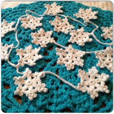Hand Crochet GarlandSmall Doily by OnceUponACraft4U on Etsy, $29.50