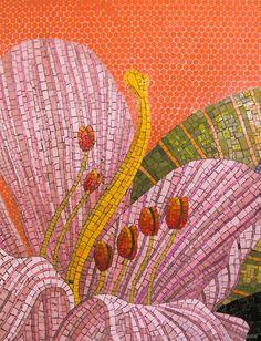 Botanical mosaics, Dupont Station, Toronto, Ontario, Canada. James Sutherland designed the mosaics, entitled _Spadina Summer Under All Seasons_.
