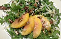 Arugula, Peach & Cheddar Salad Recipe - Recipezazz.com