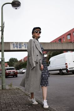 Oversized checked coat | nachgesternistvormorgen.de