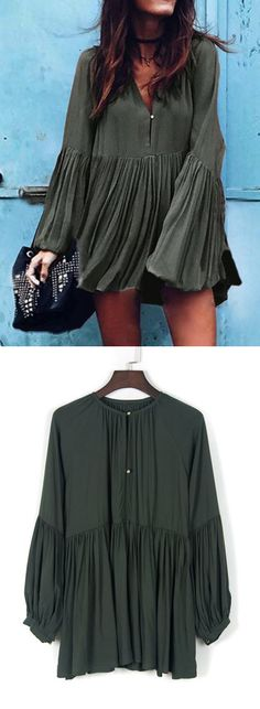 Casual is always coolest, just like this green mini dress.Discover more at CHOIES.COM.