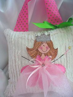 Girls Tooth Fairy Pillow Pink Rosie-Tooth Fairy Pillows