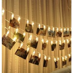 LED Photo String Lights - Magnolora 20 Photo Clips Battery Powered Fairy Twinkle Lights, Wedding Party Christmas Home Decor Lights for Hanging Photos, Cards and Artwork, Warm White Battery Powered String Lights, Indoor String Lights, Hanging Lights, Light String, Light Led, Light Bulb, Canopy Lights, Curtain Lights, Wall Lights