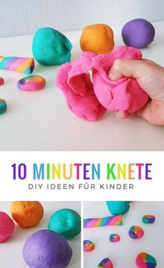 Knete selber machen: So wirds gemacht Make clay yourself Recipe: DIY idea for the children's birthday Clay Crafts For Kids, Diy For Kids, Diy And Crafts, Kids Clay, Creative Crafts, Craft Clay, Diy Image, Diy Gifts For Christmas, Art Minecraft