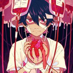 "(@isakytm) on Instagram: ""Strange desiase #blood #hospital #heart #red #originalart #originaldrawing #originalcharacter #isaky"" Cute Anime Character, Character Art, Character Design, Nursery Drawings, Yandere Boy, Arte Obscura, Webtoon Comics, Sad Art, Epic Art"