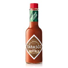 TABASCO® brand Buffalo Style Hot Sauce is so thick it sticks to foods, wrapping them in flavor. It's tangy and mild, with just the right heat for perfect wings and more. A lot of your favorite foods can go Buffalo – just splash it on! Wrap Recipes, Gourmet Recipes, Buffalo, Sauce Chili, Stuffed Hot Peppers, Hot Sauce Bottles, Sticks, Hot Sauces, Horns