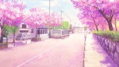 tomoya and nagisa Episode Interactive Backgrounds, Episode Backgrounds, Anime Backgrounds Wallpapers, Anime Scenery Wallpaper, Aesthetic Gif, Aesthetic Pictures, Anime Cherry Blossom, Feel Good Pictures, Casa Anime