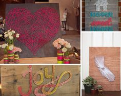 Cheap and Simple Home Decor Ideas and Projects | DIY String Art by DIY Ready at http://diyready.com/small-budget-big-impact-upgrades/
