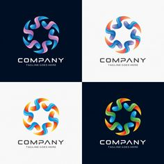 Abstract Circle logo design for sale