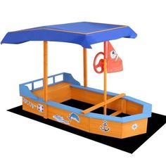 Our Keezi Boat-shaped Sand Pit promises hours of outdoor fun for your kids and friends. With all-round seating for three to seven kids, the sandpit is constructed of treated timber to withstand the elements. Baby Jogger Stroller, Baby Strollers, Canopy Outdoor, Outdoor Fun, Sandpit Cover, Sand Pits For Kids, Kids Trampoline, Kids Sandpit, Jolly Roger Flag