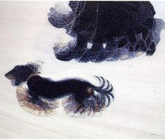 Giacomo Balla - Dynamism of a Dog on a Leash (1912) | Albright Knox art Gallery (Buffalo) A lady is walking a dog; a widow and her pet. The lady has roughly 15 feet, variably solid and see-through. The dog has eight countable tails, while its legs are lost in flurry of blurry overlays. Four swinging leads go between them.