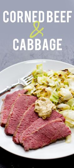 Corned Beef & Cabbage Dinner Recipe: this one will not disappoint! Great for celebrating St. Patrick's Day at home with the family, but good any time of year, really...