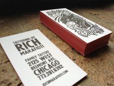 Kakia Tattoo Studio free PSD Business Card by mct2art | Photoshop ...