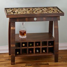 Buy the Collector's Display Top Coffee Table with Barrel Stave Legs at Wine Enthusiast – we are your ultimate destination for wine storage, wine accessories, gifts and more! Wine Barrel Crafts, Wine Barrel Table, Wine Table, Wine Barrels, Wine Cellar, Whiskey Barrel Furniture, Barrel Projects, Wine Glass Rack, Wine Racks