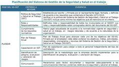 Planificación del Sistema de Gestión de la Seguridad y Salud en el trabajo CRITERIO A REVISAR Y EVIDENCIAS