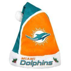 Miami Dolphins 2015 NFL Football Team Logo Holiday Plush Basic Santa Hat