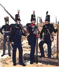 Prussian Reserve Infanterie in British/Portuguese surplus uniforms -R.Knötel