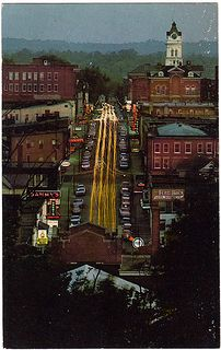 Court Street at Night, Athens, Ohio (1970s) | Flickr