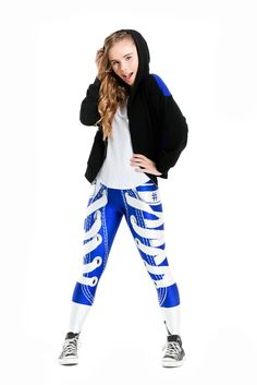 ONLINE EXCLUSIVE  Terez Girls Royal Laces Out Leggings  3da33a89b
