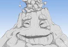 "Uku sketch from Disney/Pixar's ""Lava"" short film"