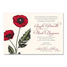 Poppy - Unique Wedding Invitation by The Green Kangaroo