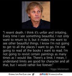"""...Every time I see something beautiful..."" - Viggo Mortensen [820 x 820]"