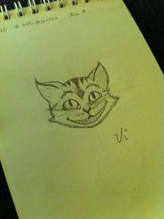 Desenho 7 de 365: Aproveitando os gatinhos, tentei o da Alice