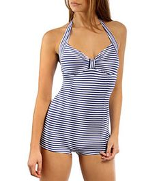 Seafolly Pin Up Boyleg Maillot One Piece at SwimOutlet.com - Free Shipping