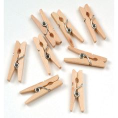 Mini Spring Clothespins, Natural, 250/pkg | @Knowledge Tree $12.44 - Perfect for springtime butterfly crafts!
