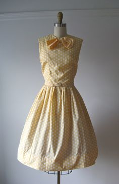 1960s party dress / Butterfat Polka Dot