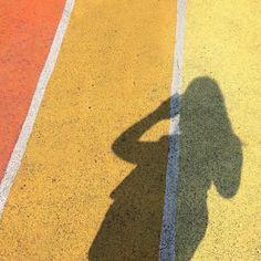 Orange & Yellow Stripes + Shadow.