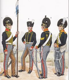The Royal Horse Artillery was authorized in 1793 to keep pace with the then accepted concept of providing light-weight, fast-moving artillery for the cavalry. All gunners were mounted on horses or rode vehicles so as to keep pace with cavalry. British Army Uniform, British Uniforms, British Soldier, Military Art, Military History, Military Uniforms, Military Fashion, Empire, Royal Horse Artillery