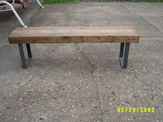 Bench, Coffee Table, Wooden Bench. Industrial Wood And Steel Bench, Dining…