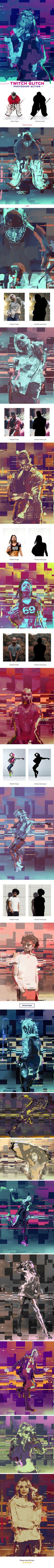Twitch Glitch Photoshop Action  #tv #grunge • Download ➝ https://graphicriver.net/item/twitch-glitch-photoshop-action/21247024?ref=pxcr