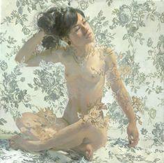 "Saatchi Online Artist: Sergio Lopez; Oil, Painting ""Rugosa Alba-SOLD"""