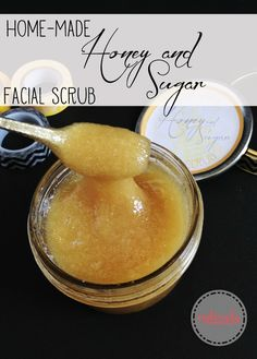 Honey and Sugar facial scrub. Perfect gift idea! Make your own sugar scrub!