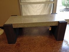 Gorgeous custom concrete bench.  Charcoal color 48x18x4 custom concrete bench in  with a western red cedar base.
