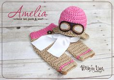 For this listing: Newborn Amelia Aviator Hat, Pants and Scarf Set  Please see shop announcement for current turn around time. Your little girl