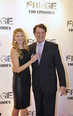 Anna Torv and John Noble at the Fringe 100 Ep Wrap Party