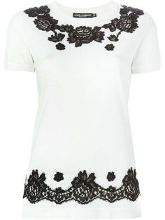 Dolce & Gabbana floral lace embellished T-shirt   You'd think at $745, they would keep the lace from looking frayed.