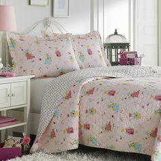 Laura Ashley Fun Fairies Reversible Cotton 3-piece Quilt Set