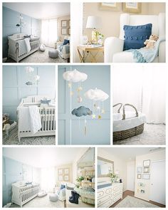 Discover the perfect peaceful blue for your baby's room. For her little boy's nursery, Aly Cook chose to create an accent wall with Languid Blue SW 6226, complementing the soft hue with walls painted in Maison Blanche SW 7526. Whimsical touches of gray and gold help complete the tranquil look.