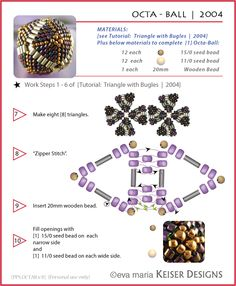 Beaded Bead   Eva Maria Keiser Designs: Tutorials
