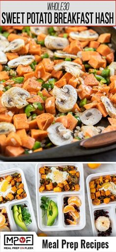 A southwest inspired hash made with sweet potatoes. This breakfast is customizable so use what vegetables you have on hand and dice them to mix into the sweet potatoes. A breakfast youll look forward to waking up for! Diet Lunch Ideas, Lunch Recipes, Breakfast Recipes, Dinner Recipes, Healthy Recipes, Breakfast Ideas, Healthy Food, Paleo Breakfast, Healthy Meals