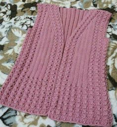 This Pin was discovered by Müz Ladies Cardigan Knitting Patterns, Baby Knitting Patterns, Lace Knitting, Knitting Designs, Knitting Stitches, Woolen Dresses, Knit Vest, Girls Sweaters, Cardigans