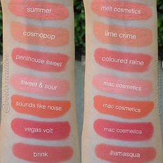 MAC Sweet and Sour - Lime Crime Babette Dupe