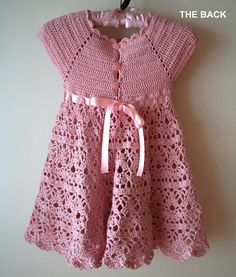 Pink Lace Dress gehaakt patroon Flower Girl Dress door CrochetMonkie